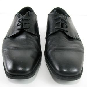 Ecco - 4 Eye Lace Up Black Leather Oxfords Sz 10.5